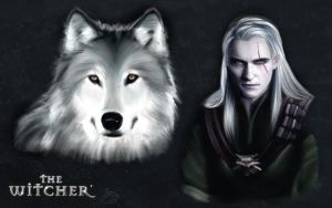 TheWhitcher-White Wolf by Ireness-Art