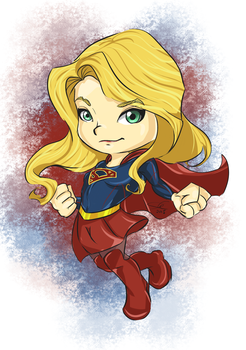 Supergirl chibi by wooserr