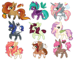 October Adoptables (1 OPEN! LOWERED PRICES) by ivyhaze