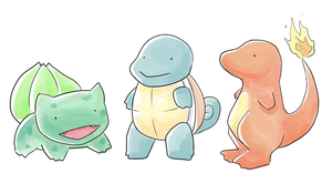 Pokemon Starters by kiwifairy