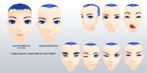 MMD Cloud9 guy head+DL by Green-Fighter