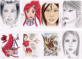 Sketch cards by Palulukan