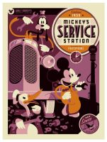 mondo: mickeys service station by strongstuff