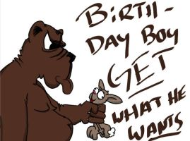 Birthday Bear by TaylorSch