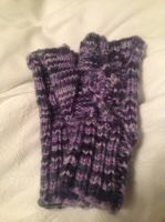 Cabled Fingerless Mits by KnitPrincess