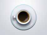 Cup of Coffee Free Psd and Png Icon by pixtea