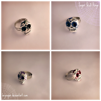 Sugar Skull Rings by heysugar