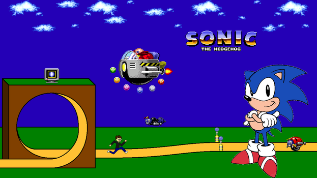 Sonic the Hedgehog Title Screen by FreeNintendo21