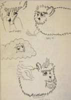 Fluffle Puff sketches by IronBrony