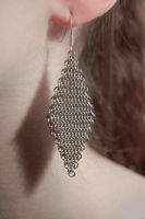 Diamond Chainmail Earrings by xMeisianx