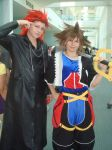 Axel and Sora cosplayers AX by spinaroundthecat