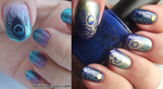 Peacock Recreation manicure - 2 year Blogiversary! by Ithfifi