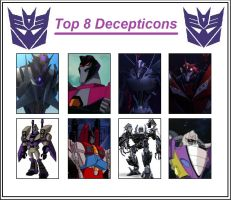 Top 8 Decepticons by Autopunk