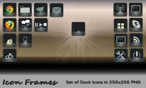 Icon Frames : Set of Dock Icons in PNG by rvc-2011