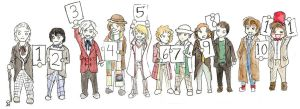 Doctor Who- Line up by Puppy-eater