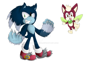 SU: Werehog and Chip by Kamira-Exe