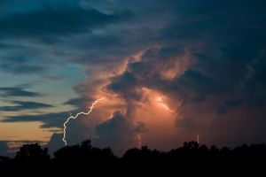 Lightning at Dusk 1 by LakeFX