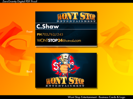 Wont Stop Ent. - Business Card by as3k