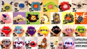MINI MONSTERS OF THE ALPHABET by loveandasandwich