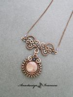 pendant with strawberry quartz by nastya-iv83