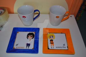 Naruto Cup Set by missmarzo