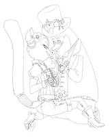 Inks - Steampunk love -- by Tsutoshi