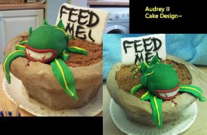 Audrey II Cake by innyxsus