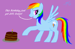 Rainbow Dash - Birthday by PhantomGamer21