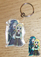 Keyring - Midnight and Nali by Luifex