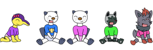 My Characters As Babies by THEMRCAGDL