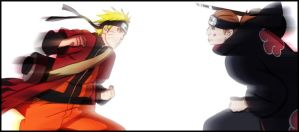 Naruto vs Pein by JyuuPL