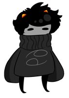 Blushy Karkat (GIF) by Sugarskulli