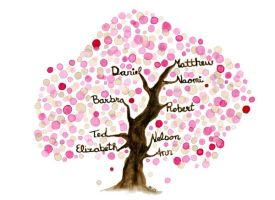 Commissioned Family Tree III by Angela-Vandenbogaard