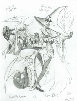 The Pumpkin and the Witch by NightWhightBlossom