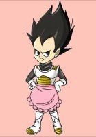 Vegeta In A Pink Apron by Aria-scribbles