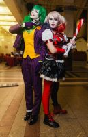 Fem Joker and Harley Quinn cosplay by HydraEvil