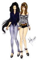 Me and Adelia by divadonna224