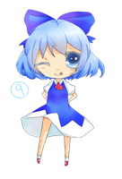 Chibi Cirno by mintgold-sky