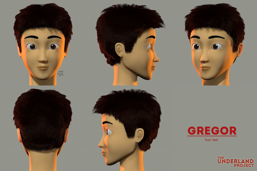 GREGOR CG Hair Styling Test - TUP by DoodleNotesPictures