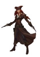female gunslinger by macarious