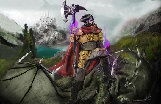 Robert the dragon slayer (color) by rebel07bloodhound