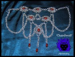 Beaded chainmail Necklace by ChardwolfArmory