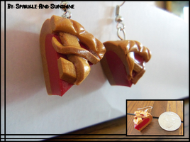 Cherry Pie Earrings by Sparkle-And-Sunshine