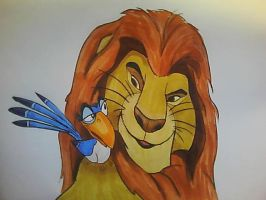 Mufasa and Zazu by Gwen1990