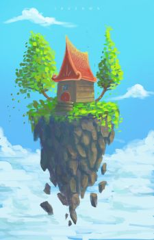 Flying house by JavSama