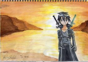 Kirito in Ainclad - the nicest weather setting by dobbsie101