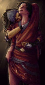 Hawke and Isabela by rsek