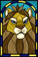 Lion of Stormwind Stained Glass by auryanne