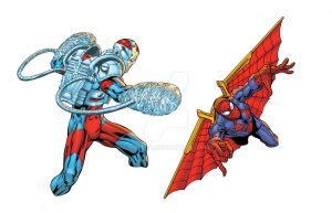 Punch and Wing Spidey by Shugga