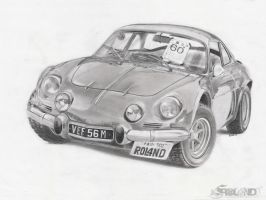 Renault Alpine A110 by ROL4NDesignStudio